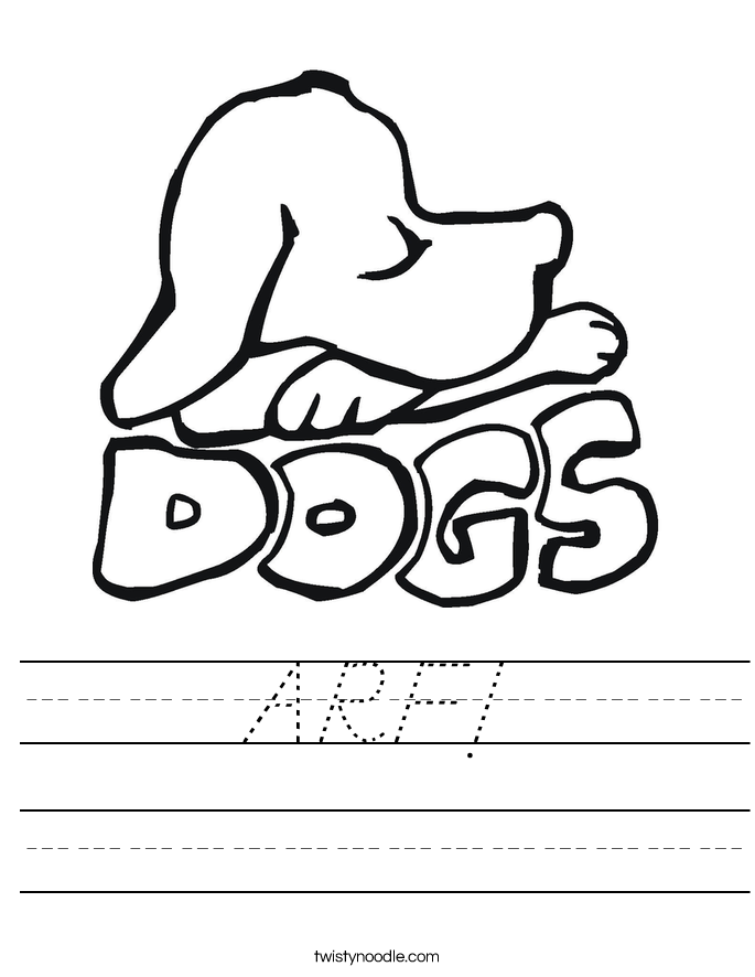 ARF! Worksheet