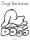 Dogs like bonesColoring Page
