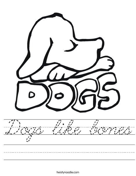 Dogs Worksheet