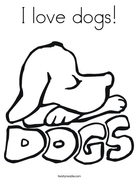 dogs coloring page - Pictures Of Dogs To Color