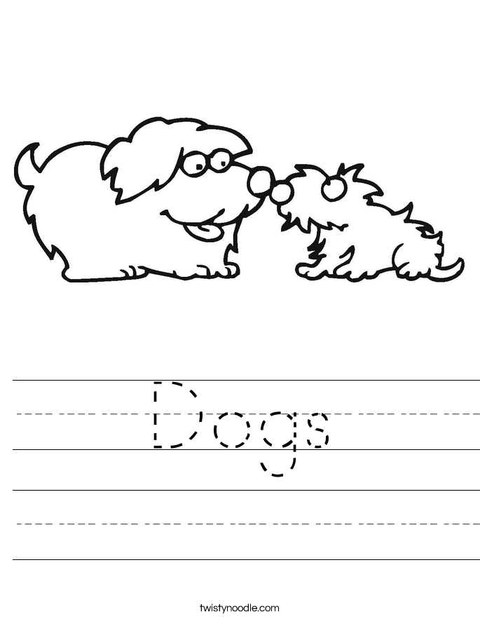 Dogs Worksheet