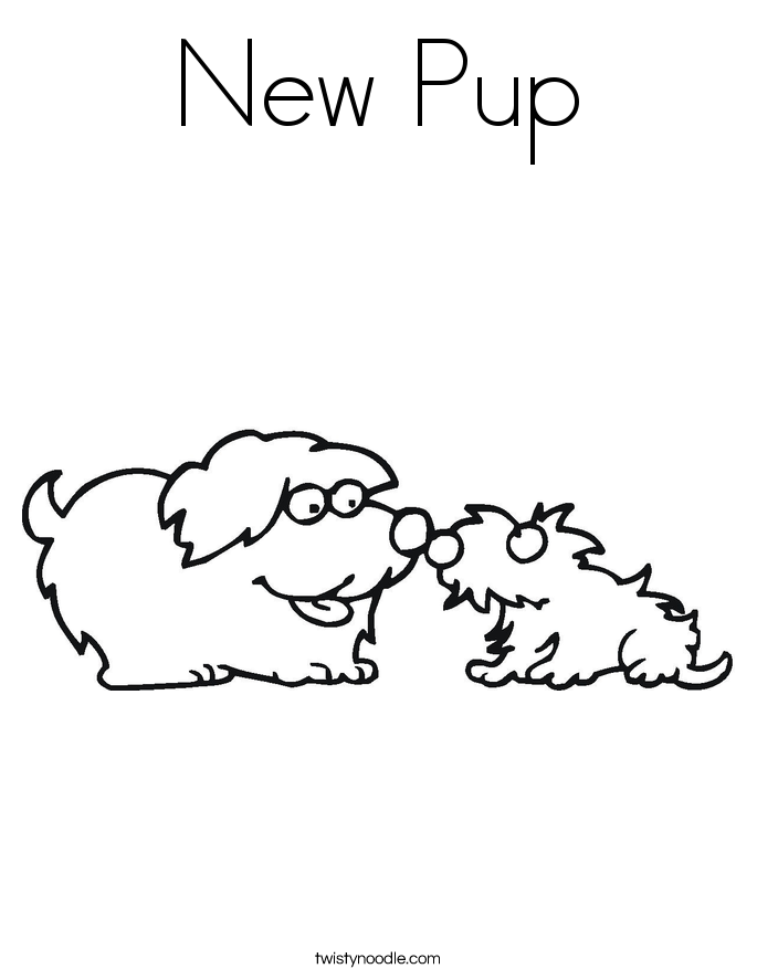 New Pup Coloring Page