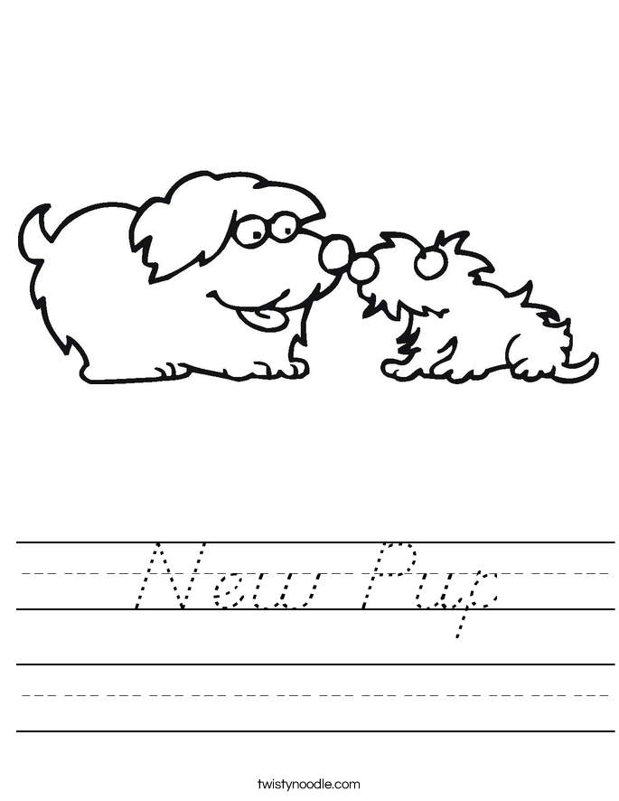 New Pup Worksheet