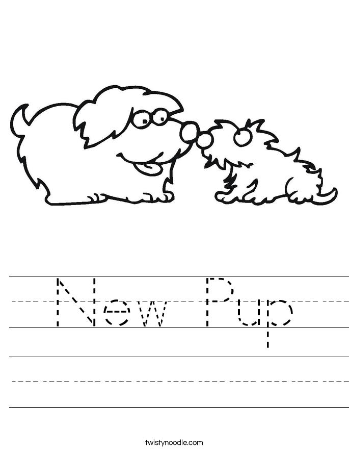 New Pup Worksheet - Twisty Noodle