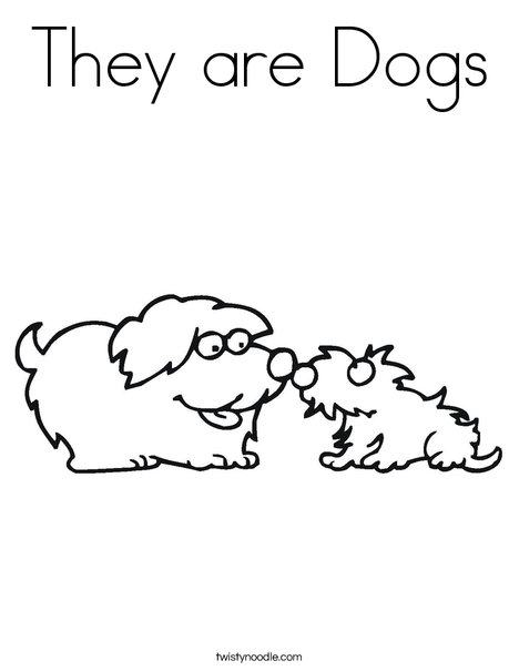 Two Dogs Coloring Page