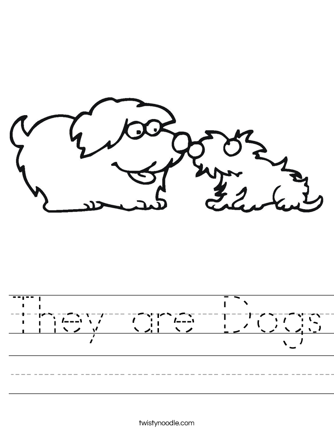 They are Dogs Worksheet