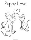 Puppy Love Coloring Page