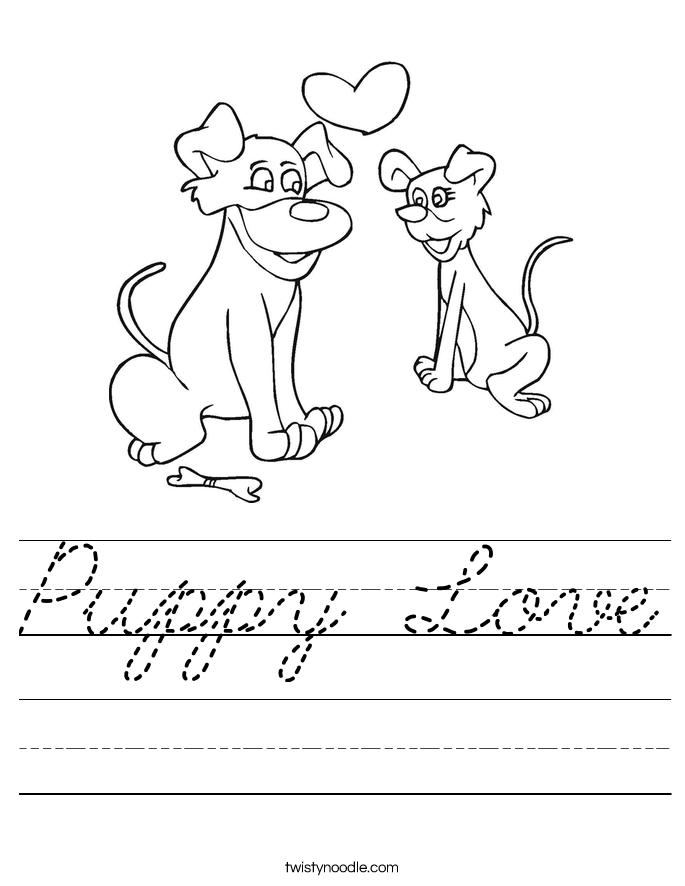 Puppy Love Worksheet
