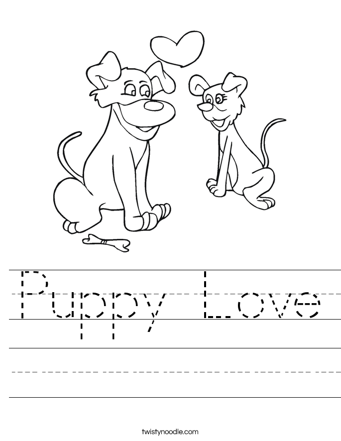 Puppy Love Worksheet
