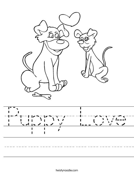 Dogs in Love Worksheet