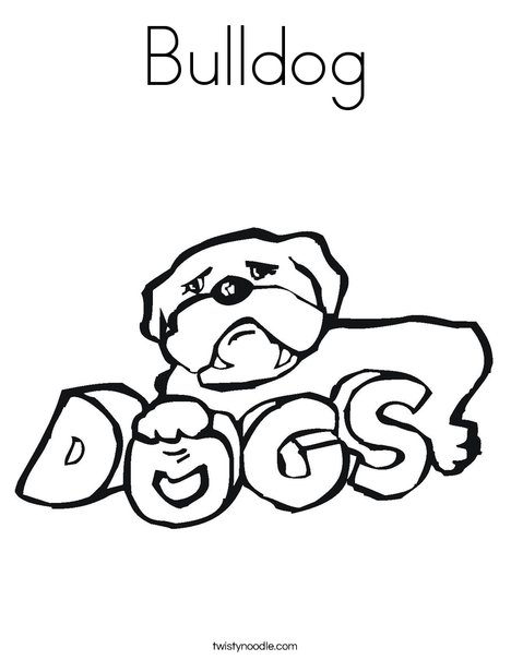 Bulldog Coloring Page - Twisty Noodle
