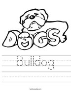 Bulldog Handwriting Sheet