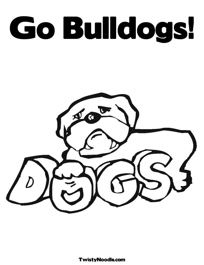 georgia bulldogs coloring pages - photo#12