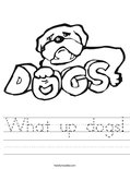 What up dogs! Worksheet