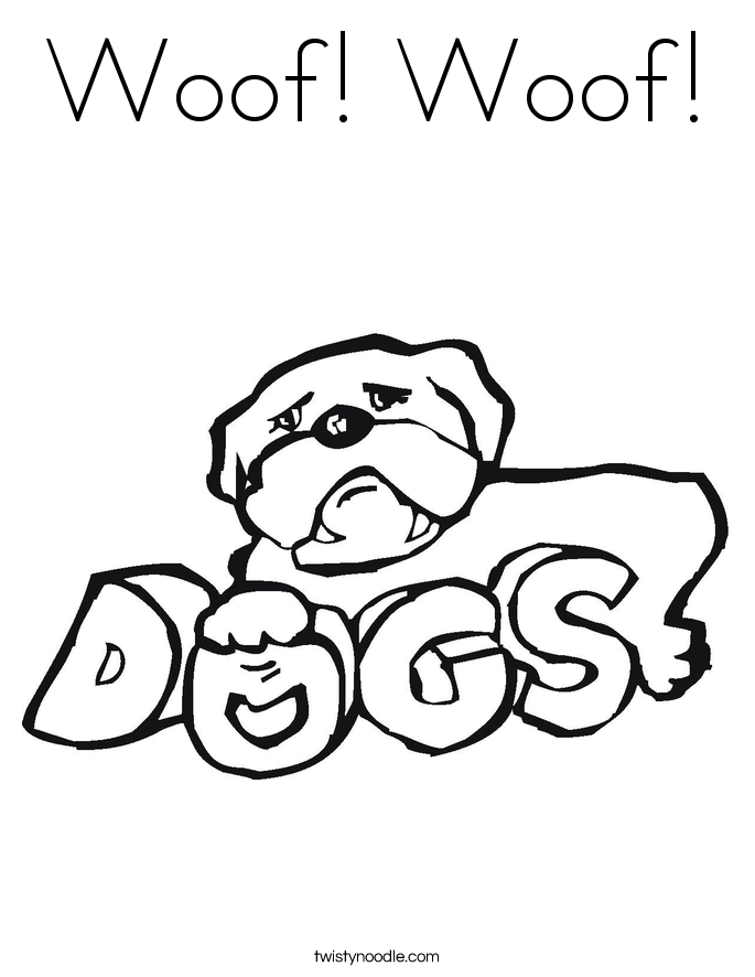 Woof! Woof! Coloring Page
