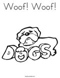 Woof! Woof!Coloring Page