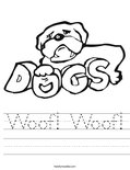 Woof! Woof! Worksheet