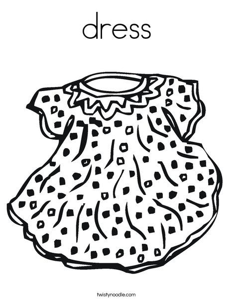 Doll Dress Coloring Page