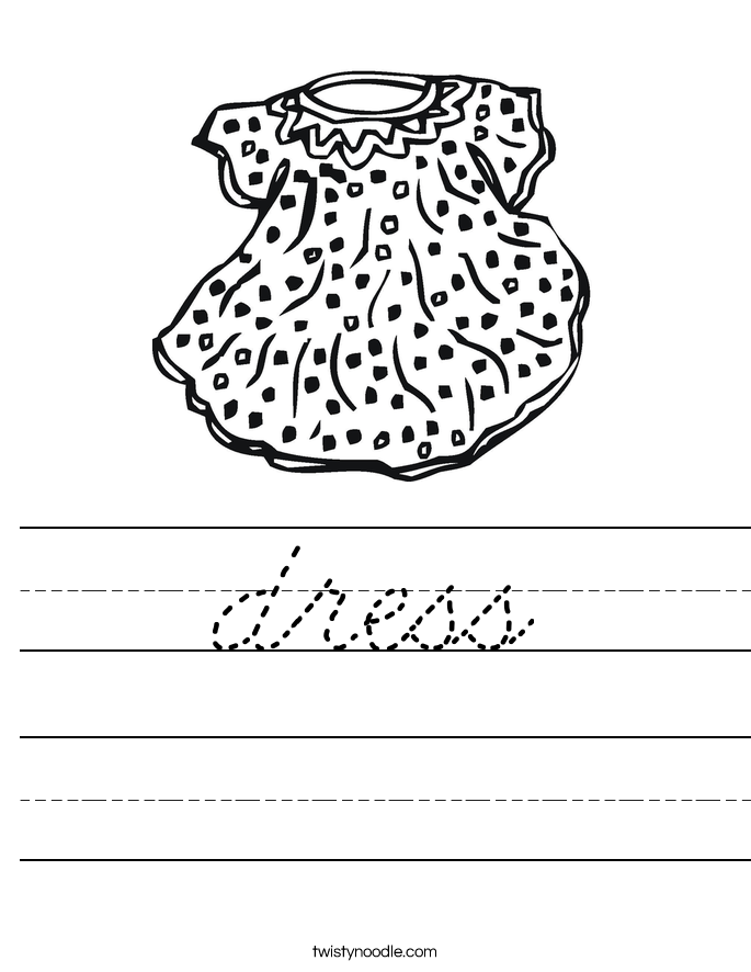 dress Worksheet