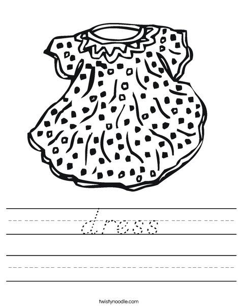 Doll Dress Worksheet