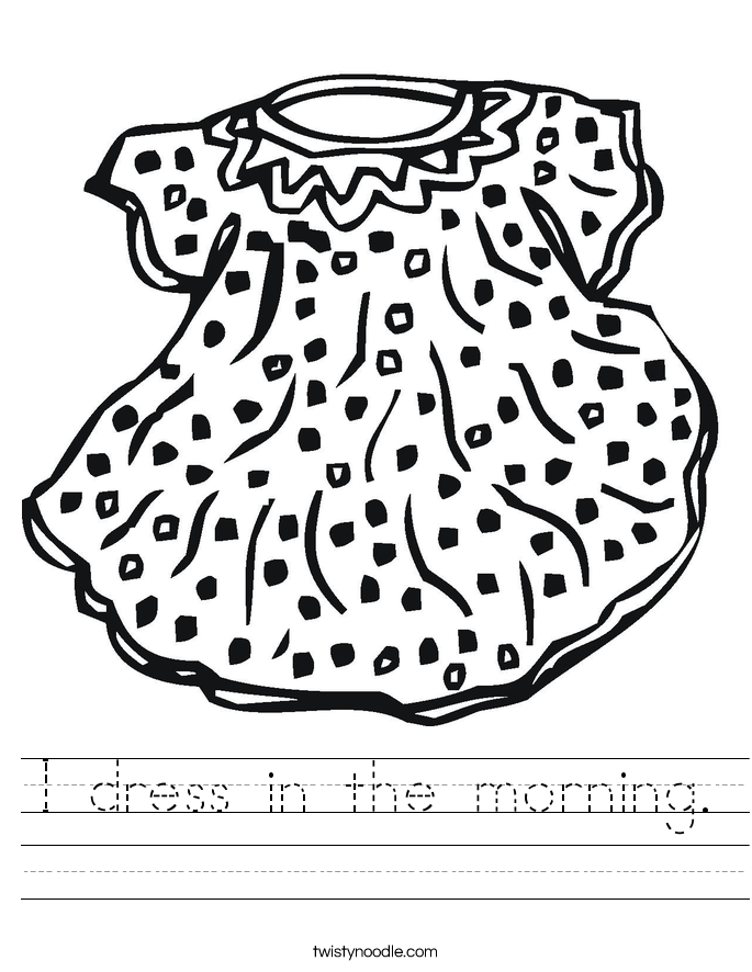 pajamas in the morning coloring pages - photo #49