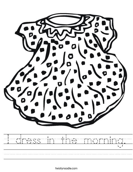 Doll Dress Worksheet