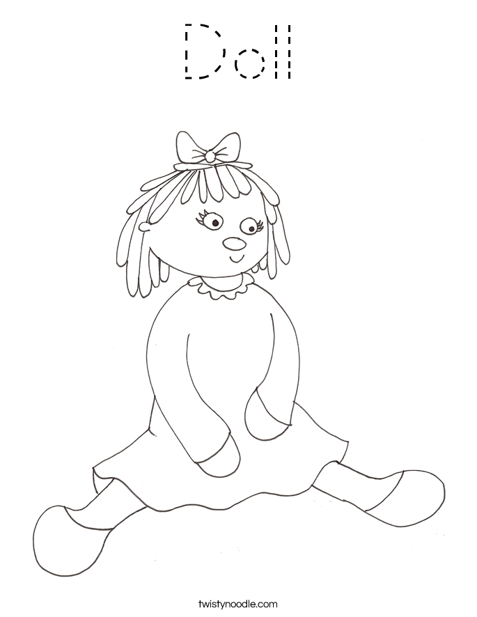 Doll Coloring Page