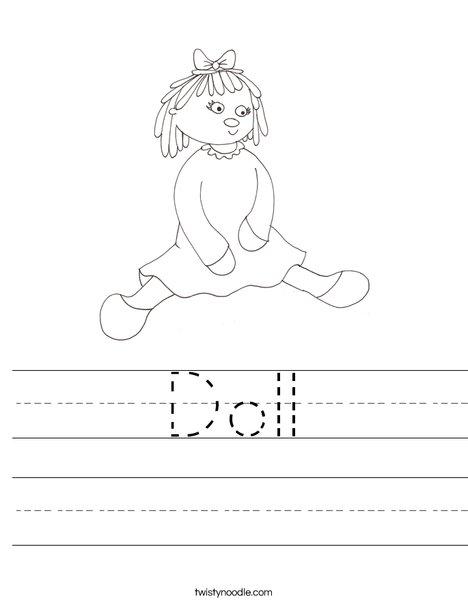 Doll Worksheet