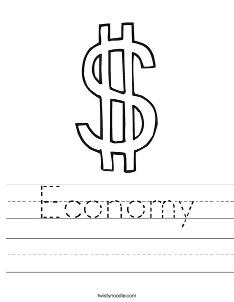 Dollar Sign Worksheet