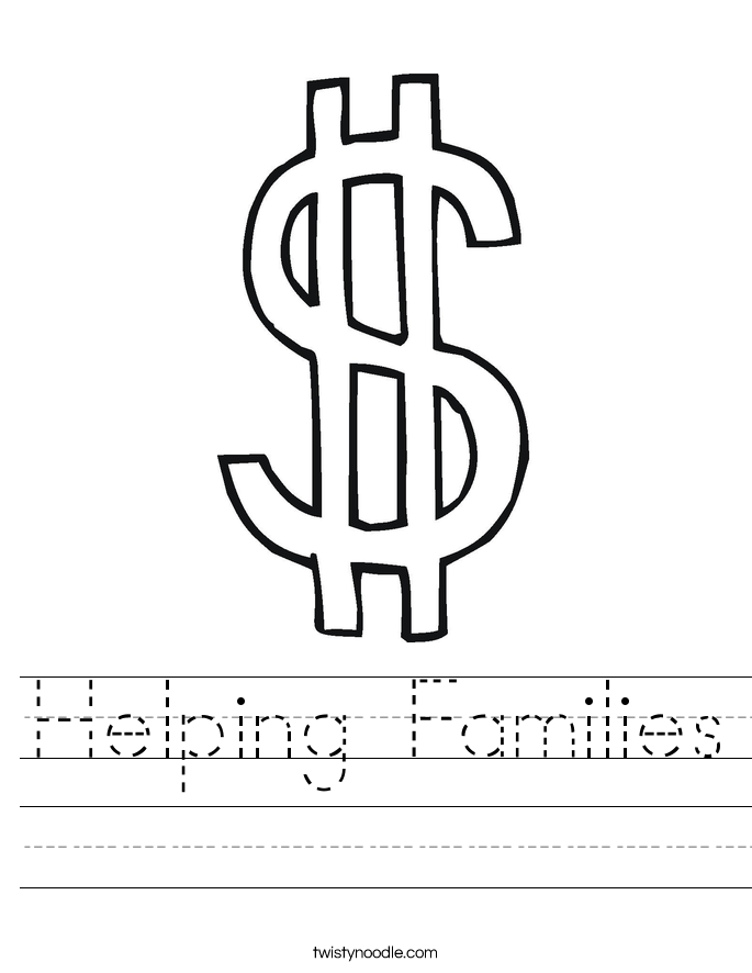 Helping Families Worksheet