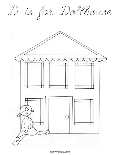Dollhouse 2 Coloring Page