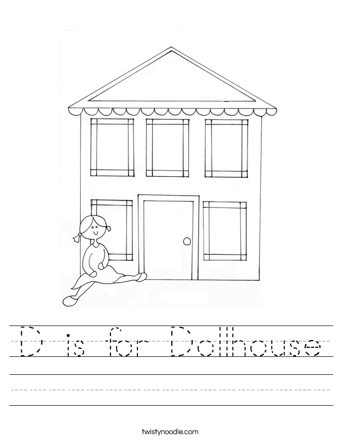 D is for Dollhouse Worksheet