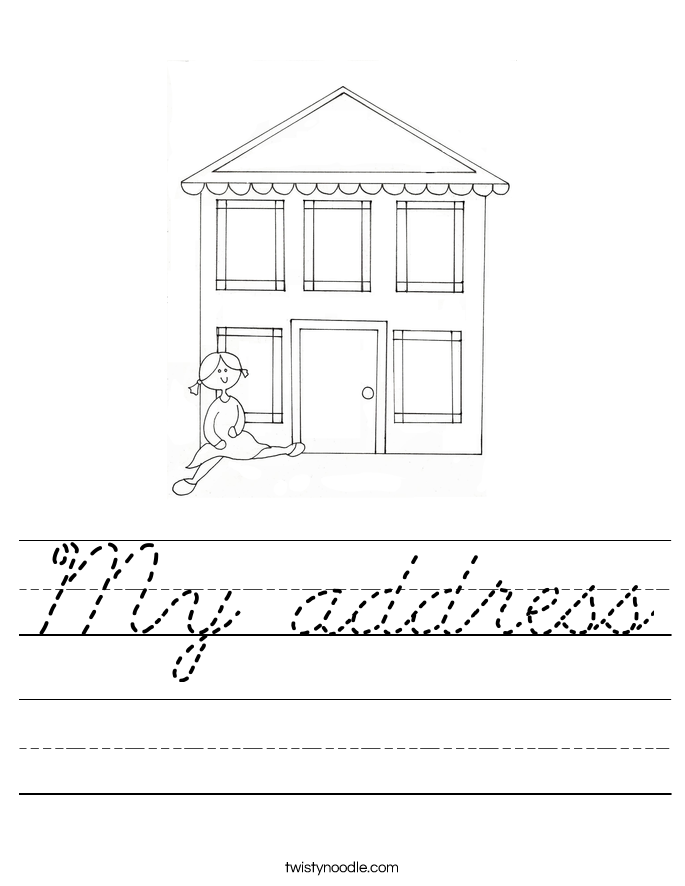 My address Worksheet