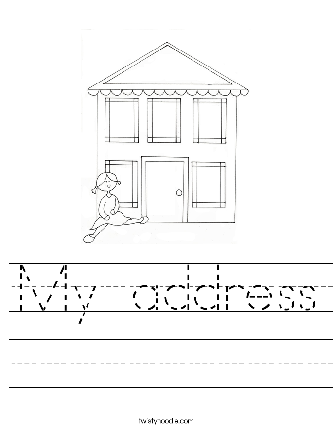 My address Worksheet