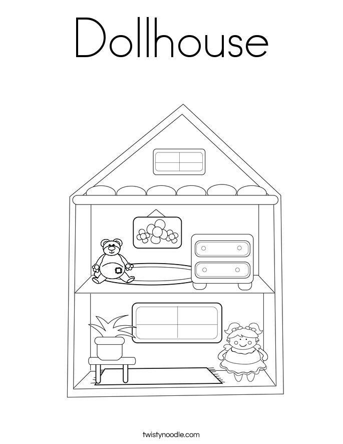 Building blocks coloring page
