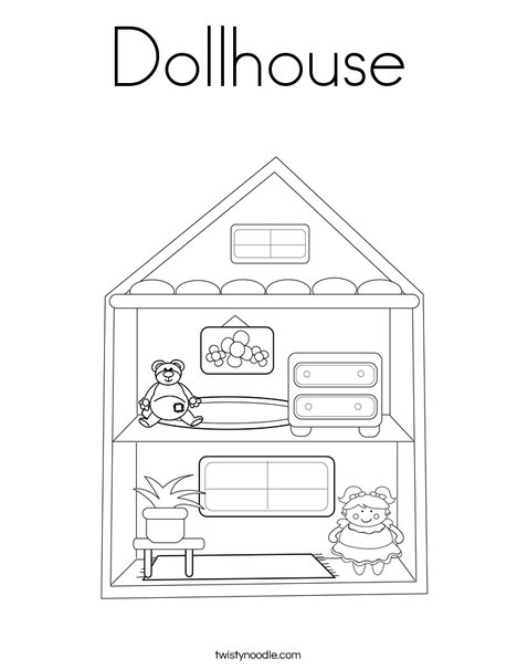Dollhouse Coloring Page