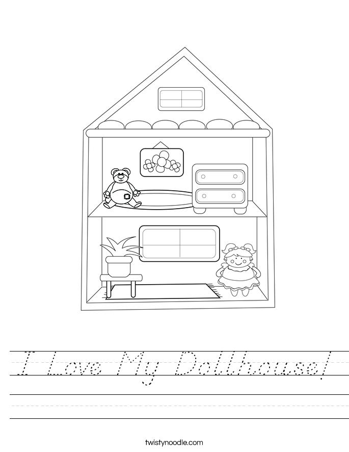 I Love My Dollhouse! Worksheet