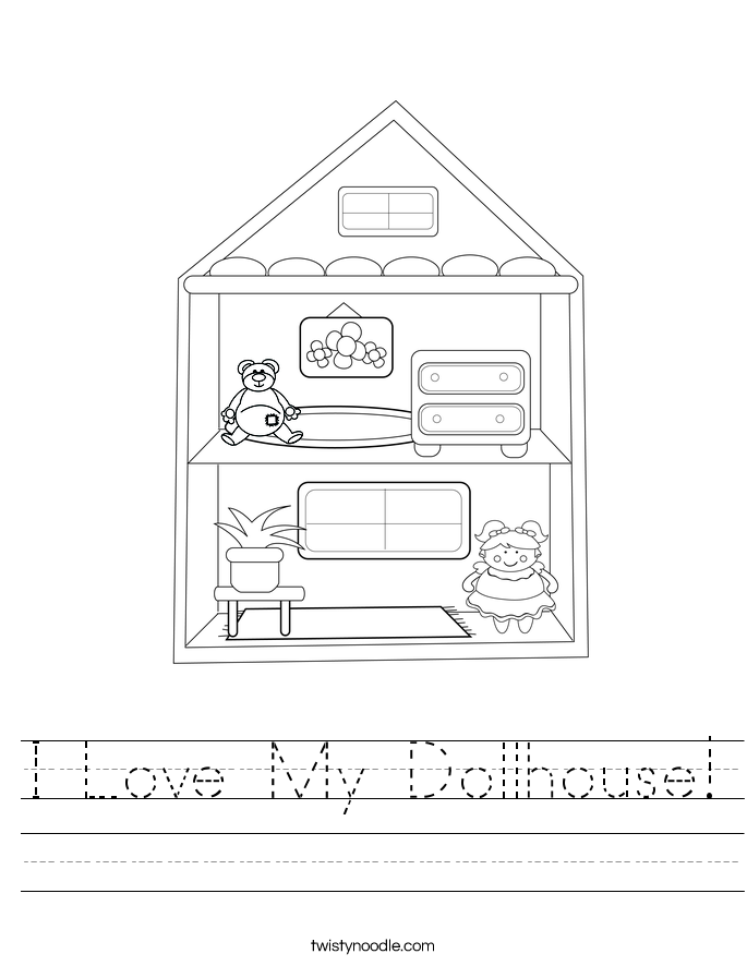 I Love My Dollhouse! Worksheet
