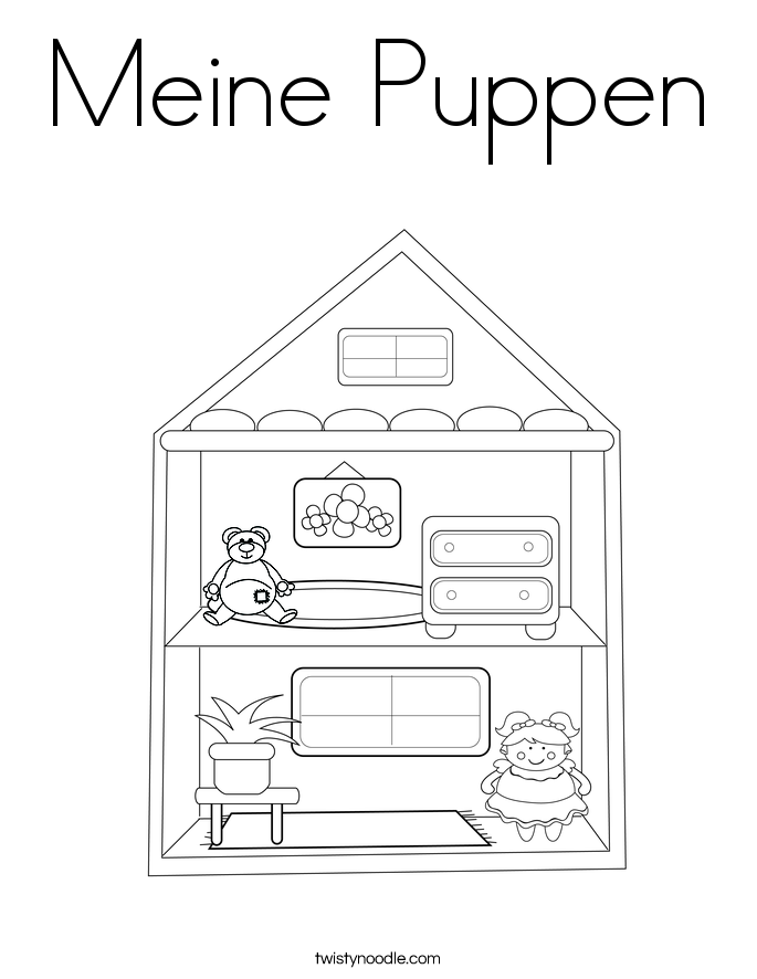 Meine Puppen Coloring Page