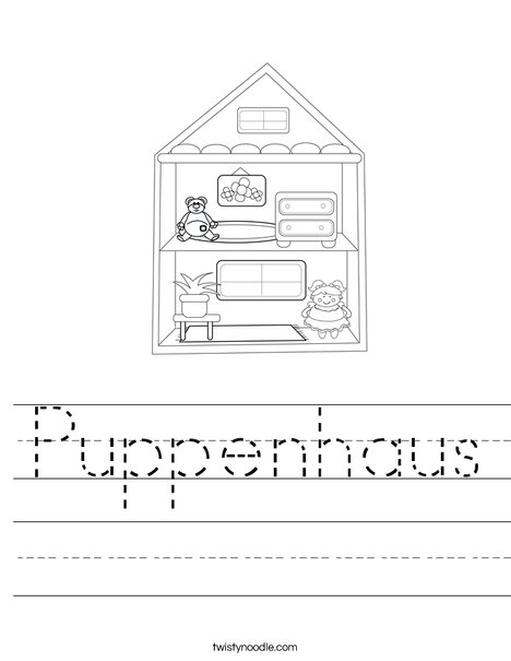 Dollhouse Worksheet