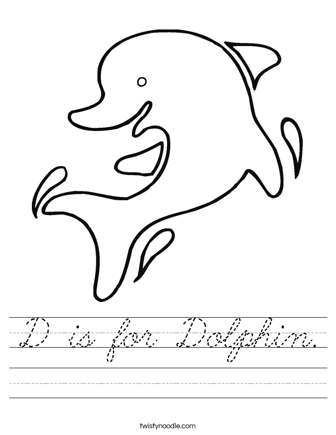 D is for Dolphin. Worksheet