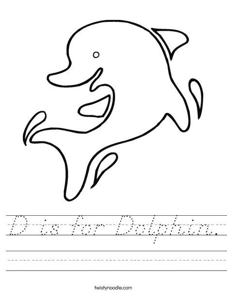 Happy Dolphin Worksheet