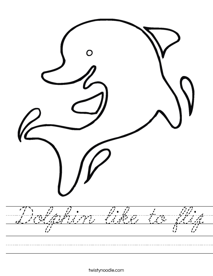 Dolphin like to flip Worksheet