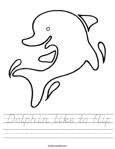 Happy Dolphin Worksheet