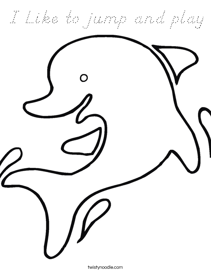 I Like to jump and play Coloring Page