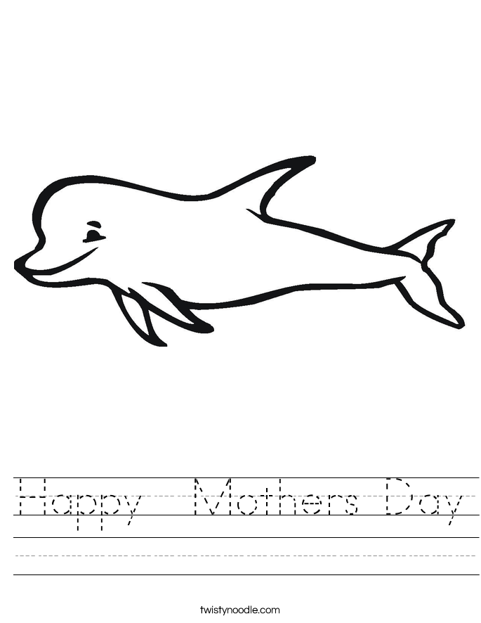 Happy  Mothers Day Worksheet