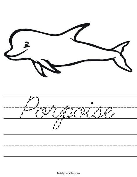 Porpoise Worksheet