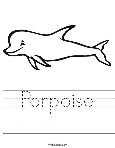 Porpoise Worksheet