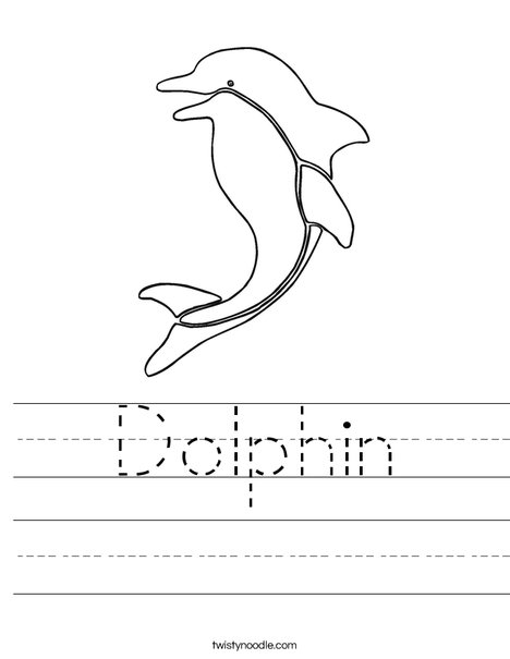 Dolphin Worksheet