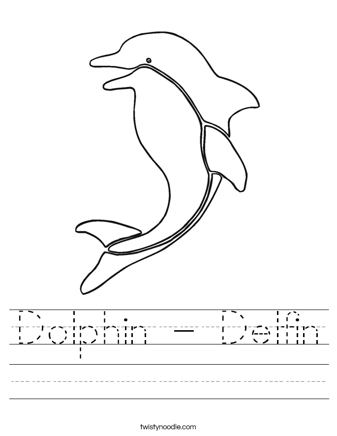 Dolphin - Delfin Worksheet